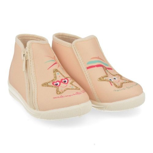 Bellamy Slippers pink Girls (734001 Patou etoile) - Junior Steps