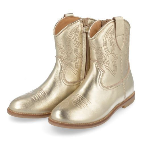 Ocra Short boots Gold Girls (D380) - Junior Steps